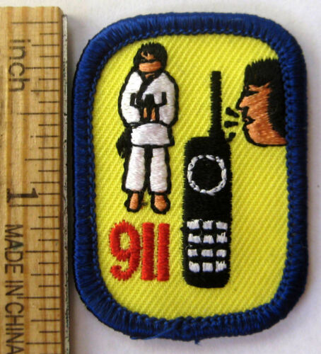 Retired Girl Scout YOUR BEST DEFENSE BADGE IP Interest Project Karate 911 Patch