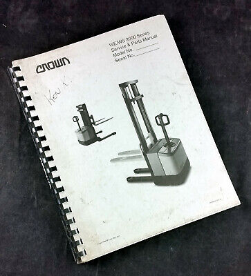 Crown Wews 2000 Walkie Stacker Service And Parts Manual Pf-11461 Rev 401 1998