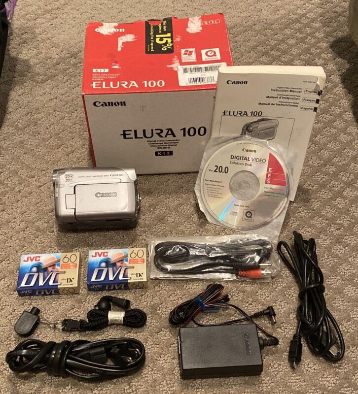 Canon Elura 100 Mini Dv Stereo Camcorder VCR Player Video Transfer Bundle