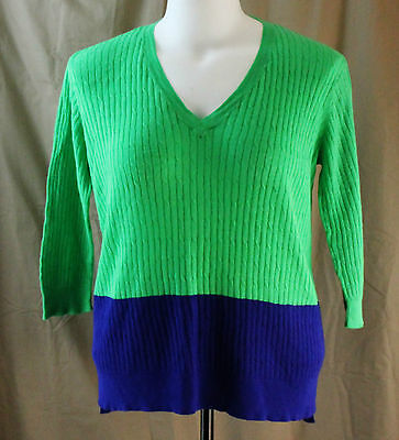 Jcp  Xl  Lime Green Verve Violet V Neck Sweater  New With Tags