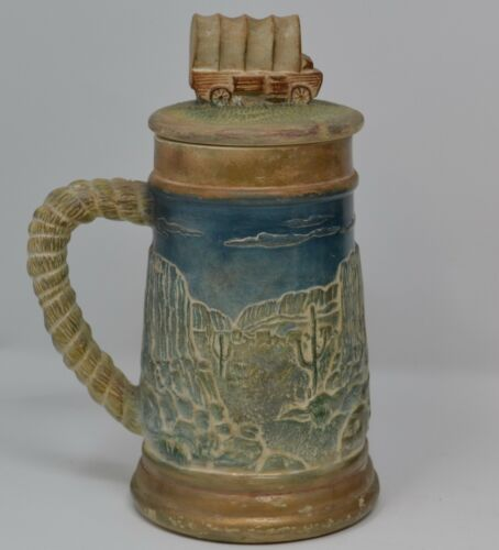 Covered Wagon, Cactus, Scenic Stein~vintage~ Western