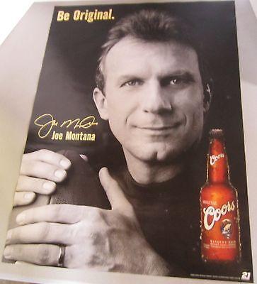 Joe Montana Coors 200 Be Original San Francisco 49ers Footabll Beer Poster