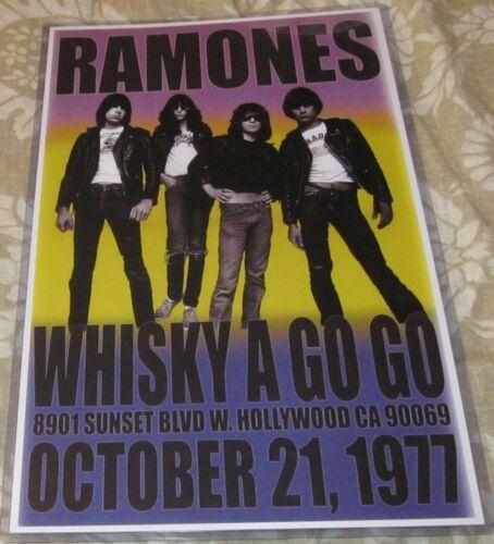 RAMONES 1977 WHISKY A GO GO REPLICA CONCERT POSTER