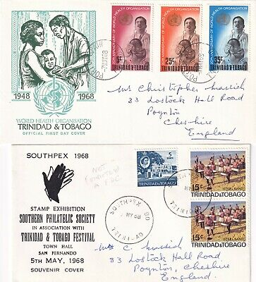 GG4433 Trinidad + Tobago 11 diff First Day Covers or Commemorative 1937 - 1979
