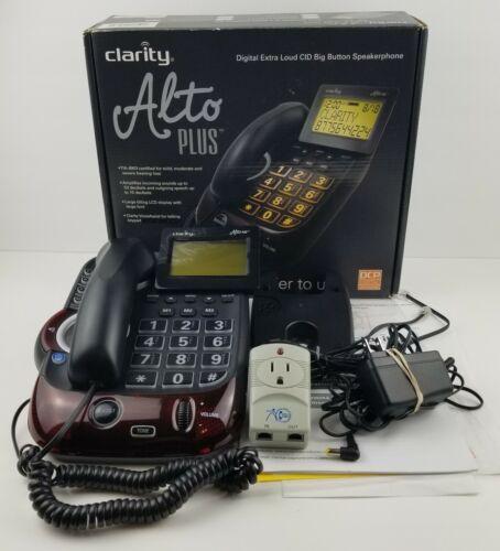 Clarity Alto Plus Digital Corded Phone Amplified Big Button Speakerphone Hearing