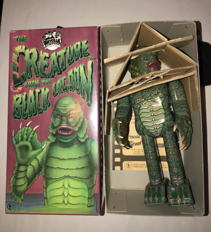 Universal Monsters CREATURE FROM THE BLACK LAGOON Tin WindUp Toy Robot