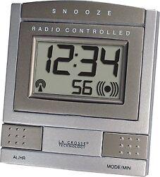 WT-2171U-BZ La Crosse Technology Atomic Digital Travel Alarm Clock - Bronze