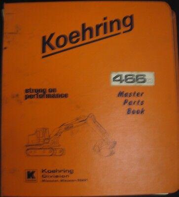 Koehring Model 466d Excavator Parts Manual