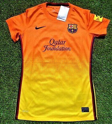 FC BARCELONA Damen Trikot Jersey Women NIKE Größe L Fussball orange NEU...