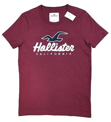 Hollister California Mens Tshirt Applique Logo Graphic Tee All Sizes Free Shipin