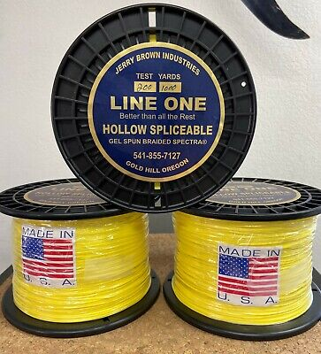 Jerry Brown Line One Non-Hollow Spectra Braided Line 50 lb Test  white 150 yards