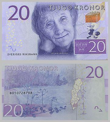 "Schweden / Sweden 20 Kronor 2015 ""Astrid Lindgren"" unz."