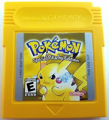 Pokemon Yellow Version Pikachu Game Boy Color Cleaned & Good Save Battery Nice! - Pikachu Game