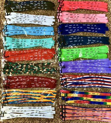 Woven Jesus Religious WWJD Bracelets Bracelet Fundraiser Fas