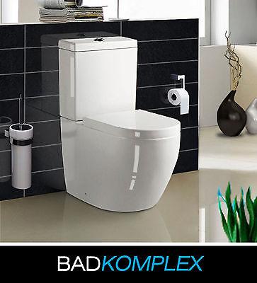 Design Stand WC Tiefspüler inkl. Softclose WC Sitz komplett aus Keramik