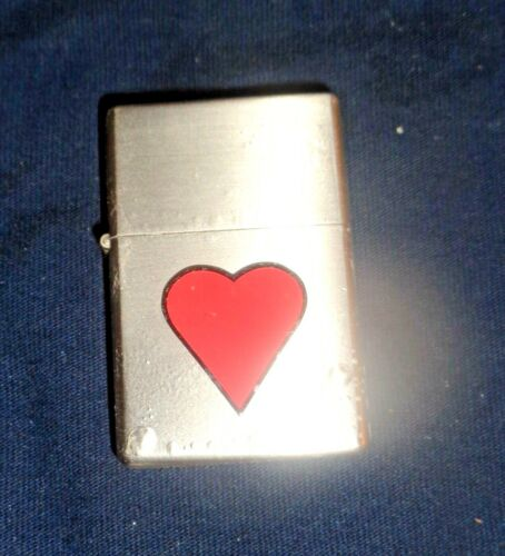 NEW -  2006 Limited Edition Flip Top Lighter Refillable - Chrome With Red Heart
