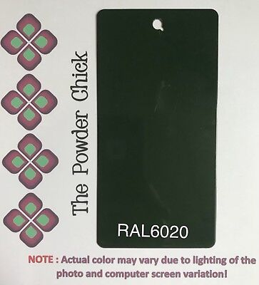 Ral 6020 4952710 Chrome Green Powder Coating Paint 1lb Bag New