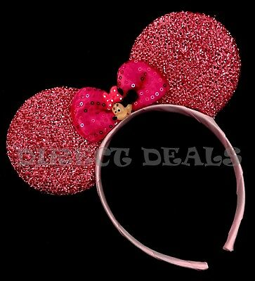 Minnie Mouse Princess Ears Headband Shiny Pink With Pendant Birthday Party CUTE](Pink Minnie Mouse)