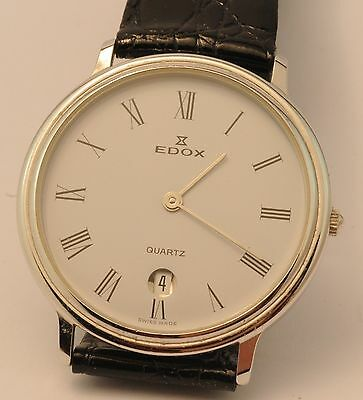 Edox Mens Date Watch - Stainless Steel Case
