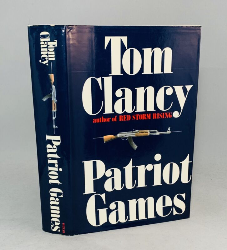 Patriot Games-Tom Clancy-SIGNED/INSCRIBED!-TRUE First/1st Edition w/ Errors-RARE