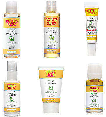 Burts Bees Natural Acne Solutions Skincare Products  6 Types