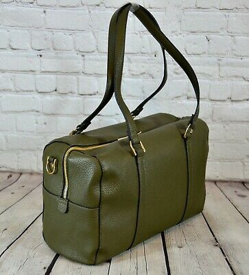 A New Day™ Womens Olive Green Soft Duffle-style Purse With Detachable Strap NWT