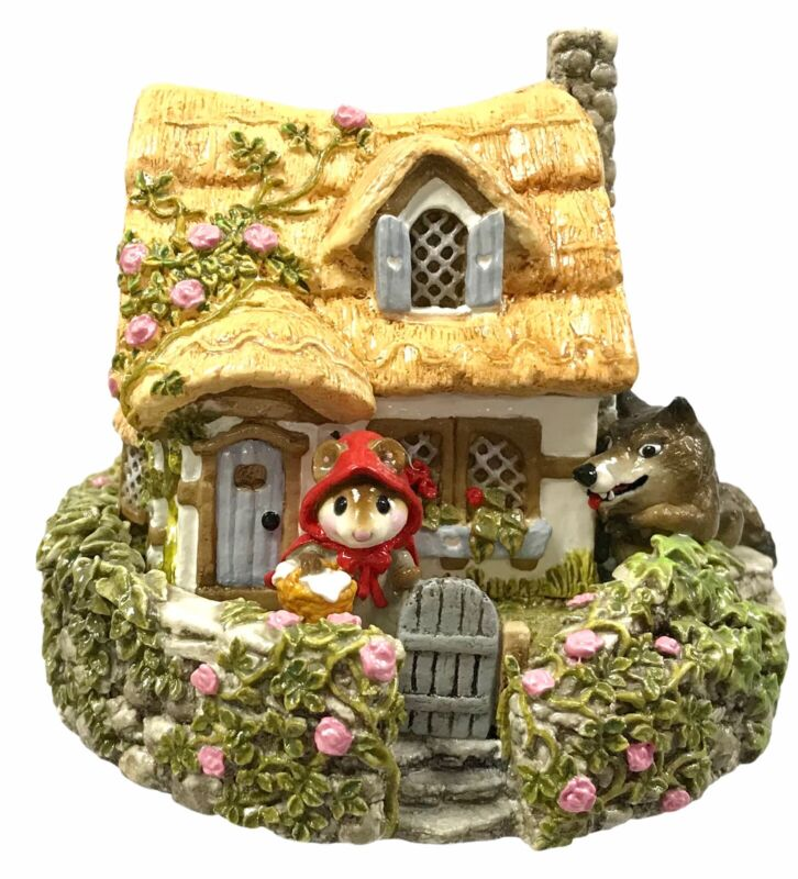 Wee Forest Folk Red Riding Hood Grandmothers House M-172 Donna Petersen Signed