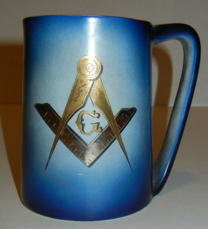 Vintage Art Deco Era Masonic Freemasonry Secret Society Mug-Occult-Steampunk!