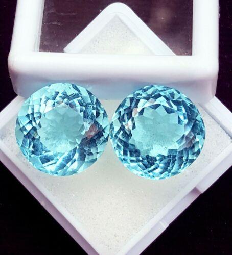 Light Blue Aquamarine Pair Between 10 to 12 Cts Certified Loose Gemstone PR-612