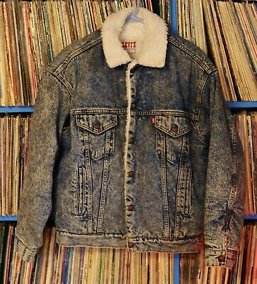 LEVIS FLEECE JEAN JACKET MEDIUM for sale  Shipping to India