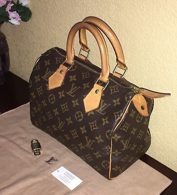 Louis Vuitton City Bag - LOUIS VUITTON Monogram Speedy 25 City Satchel Boston Bag Tote Handbag Purse