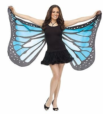 Butterfly Wings Soft Fabric Adult Costume Accessory, One Size, Blue Teal - Blue Butterfly Wings Costume