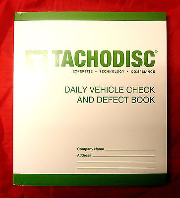 Tachodisc Daily Vehicle Check And Defect Book T50