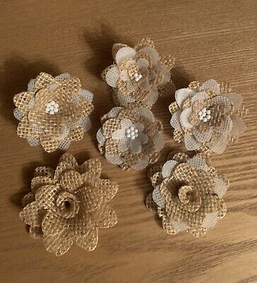 Burlap Wedding Decorations (Burlap Flowers)