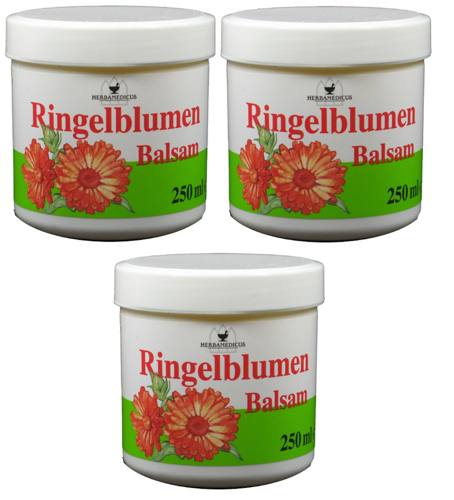 Ringelblumen Creme 3x 250ml Pflegecreme Balsam Hautpflege Handcreme Lippencreme