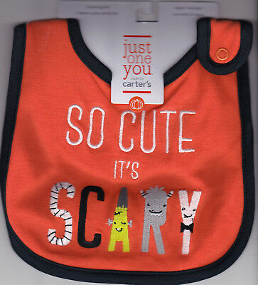 So Cute It's Scary Halloween Teething Bib Costume - Infant - New Water Resistant (It's Halloween Baby)