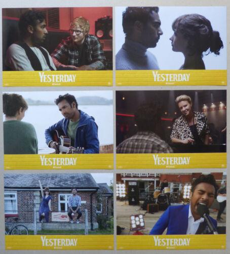 YESTERDAY - Lobby Card Set of 6 - Ed Sheeran, Himesh Patel, Lily James, D. Boyle