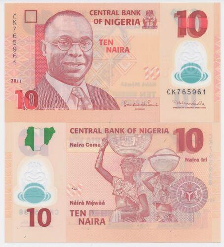 Nigeria P-39c 10 Naira Year 2011 Uncirculated Banknote Africa