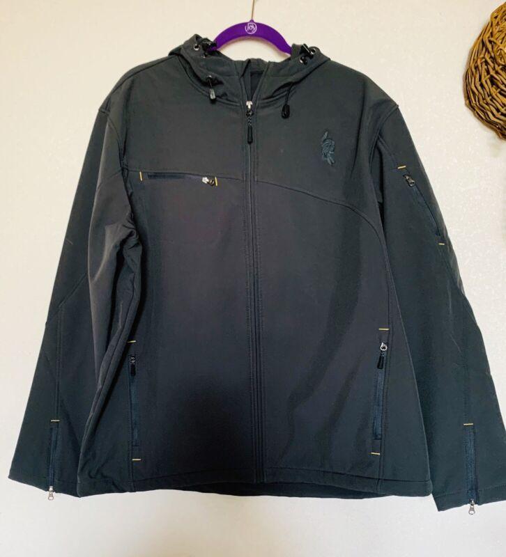 Norfolk Southern Port Authority Rain Coat Jacket Sz  L Black Pocahontas Division