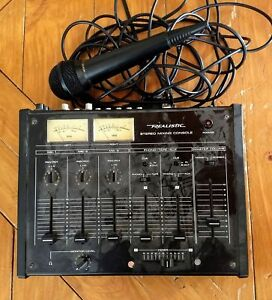 Old mixer and mic