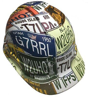 Hard Hat Ridgeline Cap Style Custom White License Plates W Free Brb T-shirt