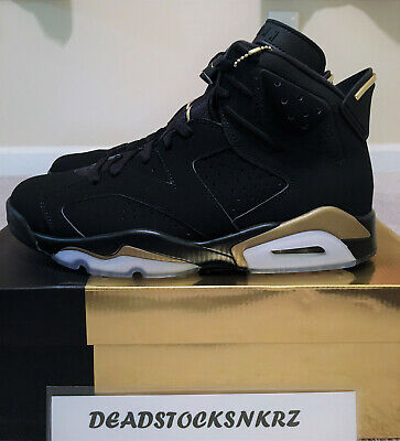 2020 Nike Air Jordan 6 Retro DMP Black Metallic Gold CT4954 007 GS & Men's Sizes
