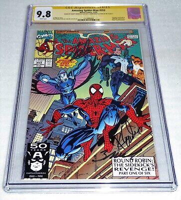 Amazing Spider-Man #353 CGC SS 3x Signature Autograph STAN LEE Darkhawk Punisher