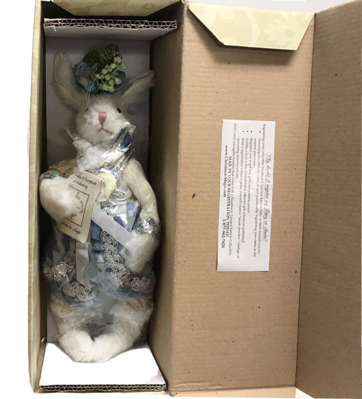 "Mark Roberts Mrs Blue & White Bunny 12"" -51-31958-MRS NEW FACTORY SEALED"