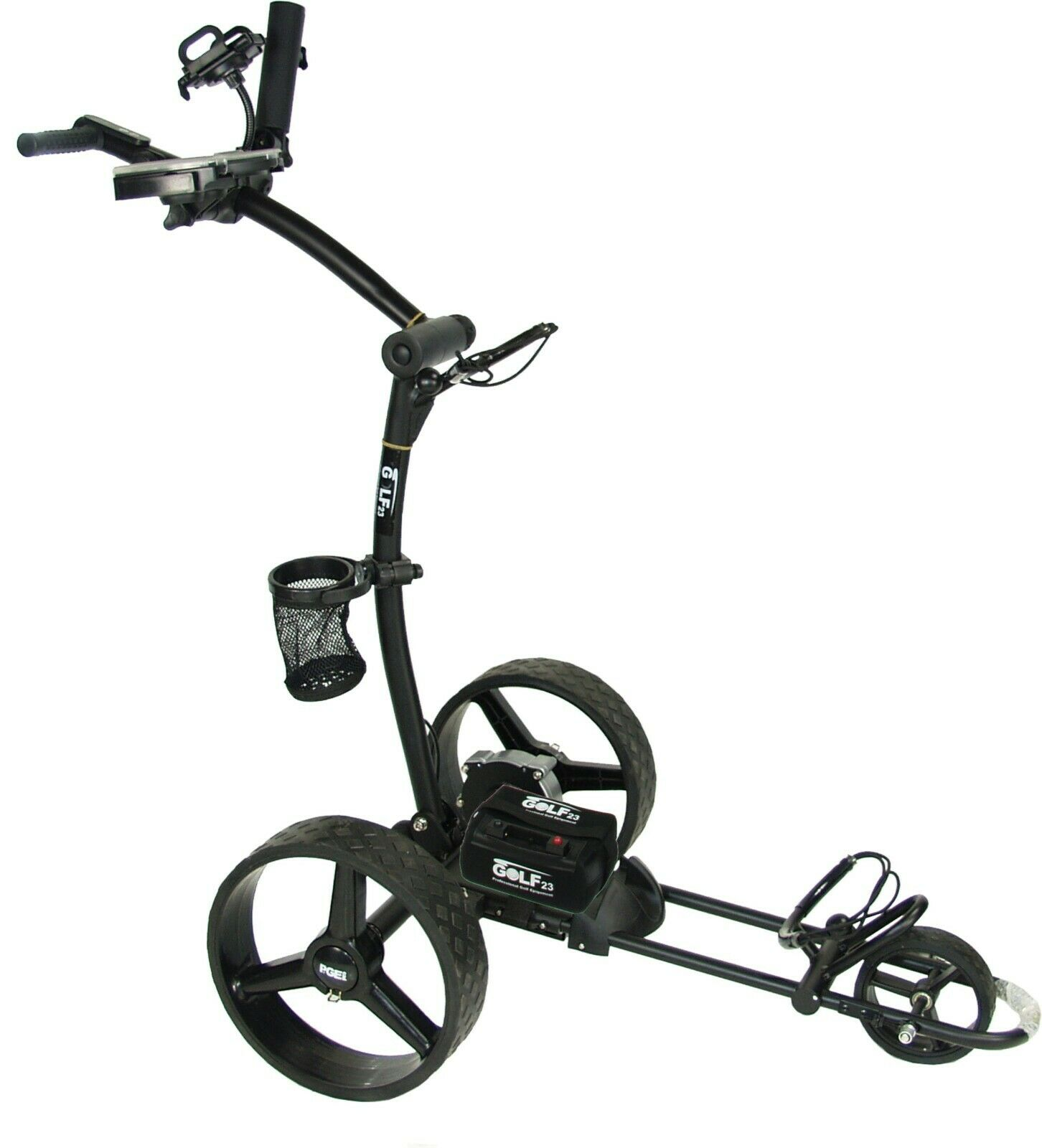 GOLF23 Elektro Golf Trolley 3.1 LithiumAkku 20Ah,USB,Vollausstattung, schwarz