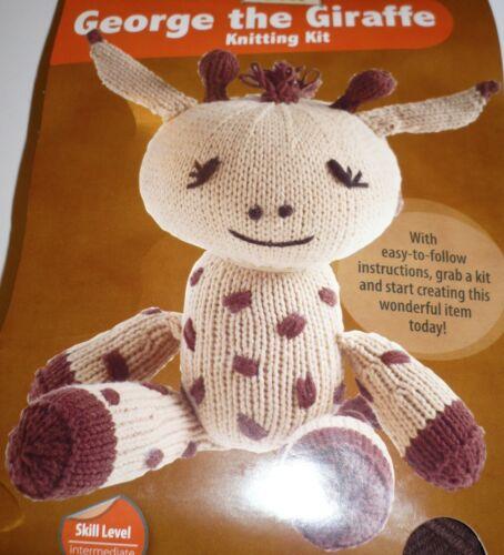 GEORGE THE GIRAFFE Knitting Kit