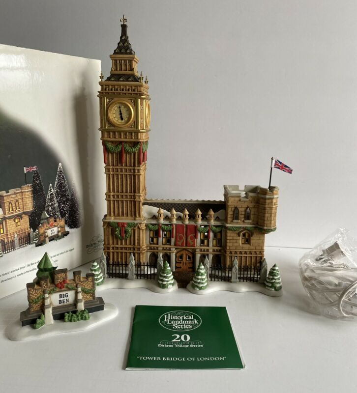DEPT 56 BIG BEN 58341  DICKENS VILLAGE   CLOCK NOT WORKING