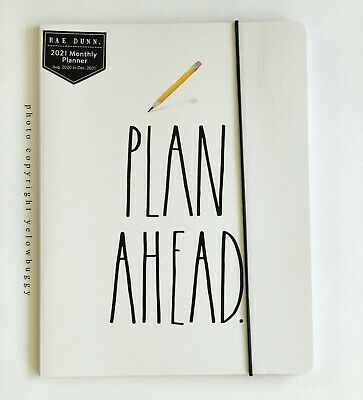 Rae Dunn 2021 Pencil Plan Ahead White Htf New Aug 2020-dec 2021