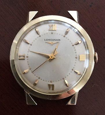 Vintage Longines 14K Gold President Arthur Sweep ? Men's Wristwatch Fancy Lugs