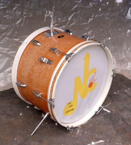 "MIJ LYRA 20"" Bass/Kick Drum Gold Sparkle Pearl Company 1960s Japan w/Logo Head"